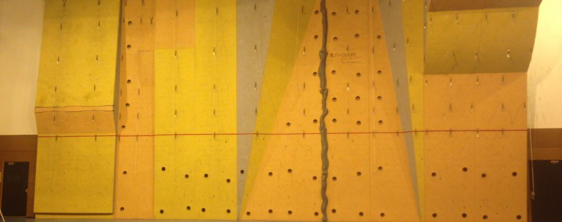 Démontage du mur d'escalade